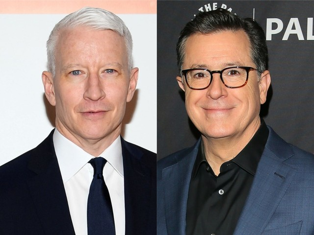 Anderson Cooper gets choked up when conversation with Stephen Colbert turns to grief