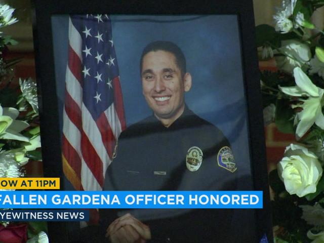 Vigil held for Gardena officer killed in motorcycle crash