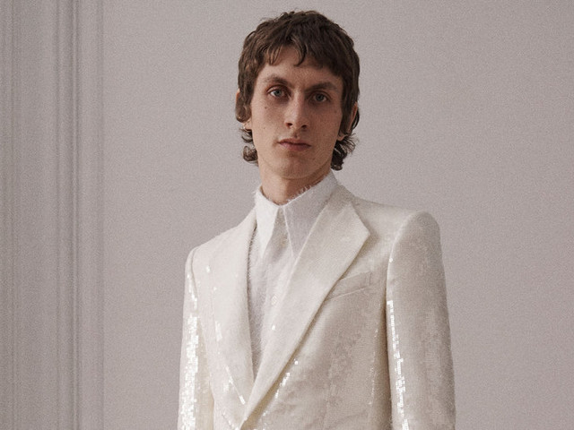 At Givenchy, a Slithery Rock Look