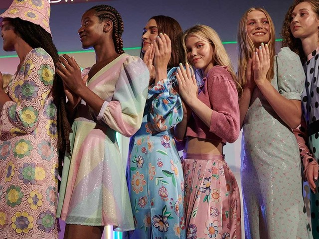 Olivia Rubin brings colour to LFW