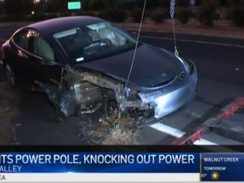 "Tesla On Autopilot ""Suddenly Accelerates"", Smashes Into Power Pole, Sparks A Fire, & Causes Thousands To Lose Power"