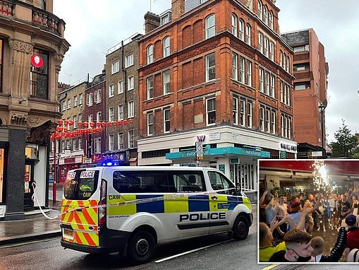 Man, 55, is left fighting for his life after fight near Leicester Square where Scotland fans partied