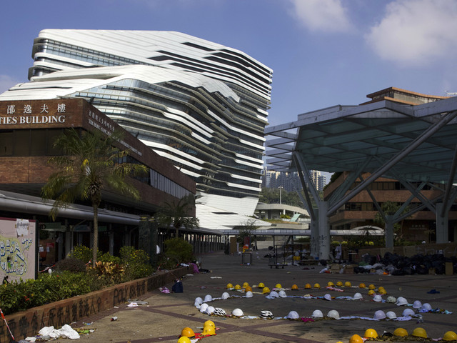 Protester warns against police moving into Hong Kong campus