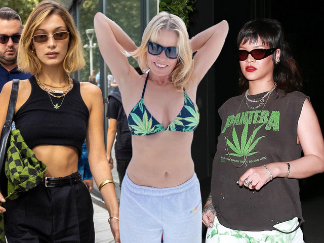 High fashion: All the stars who've worn weed-themed bikinis, jewels and more