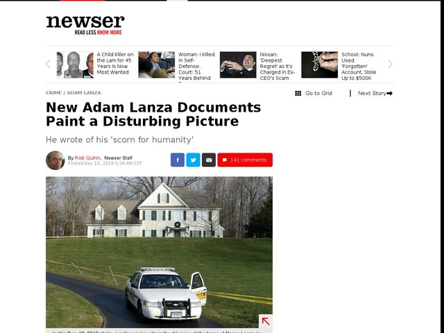 New Adam Lanza Documents Paint a Disturbing Picture