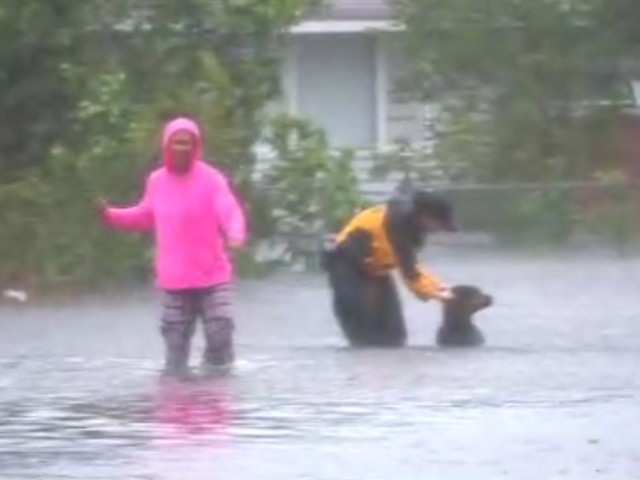 WATCH: Water rescues underway in New Bern as Hurricane Florence lashes North Carolina coast