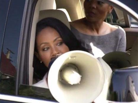Queen Latifah and Jada Pinkett Smith Nearly Turn Carpool Karaoke Into Crashpool Karaoke