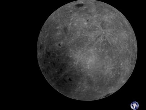 Jaw-dropping image captured by amateurs shows the far side of the moon with Earth in the distance