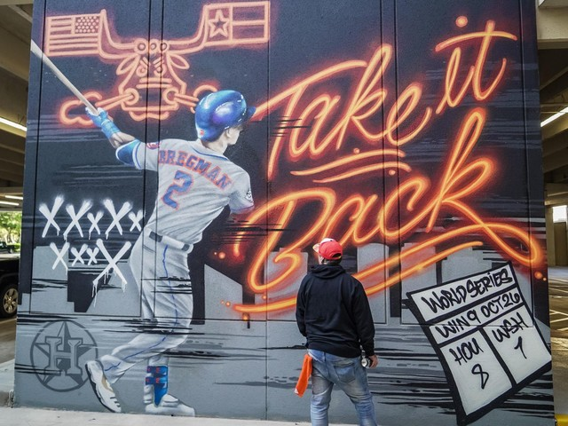 Where are the new World Series Houston Astros murals?