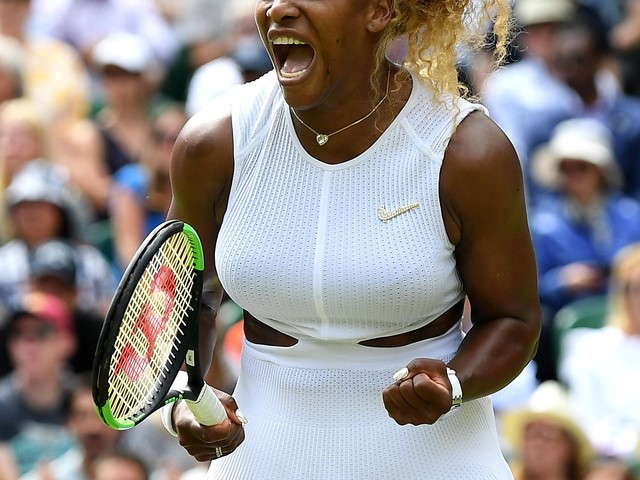 With 19 aces, gutsy comeback, Serena Williams reaches Wimbledon semis
