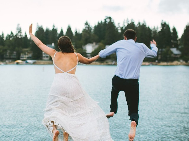 Awful Wedding Weather? Maybe You Should Jump in a Lake!