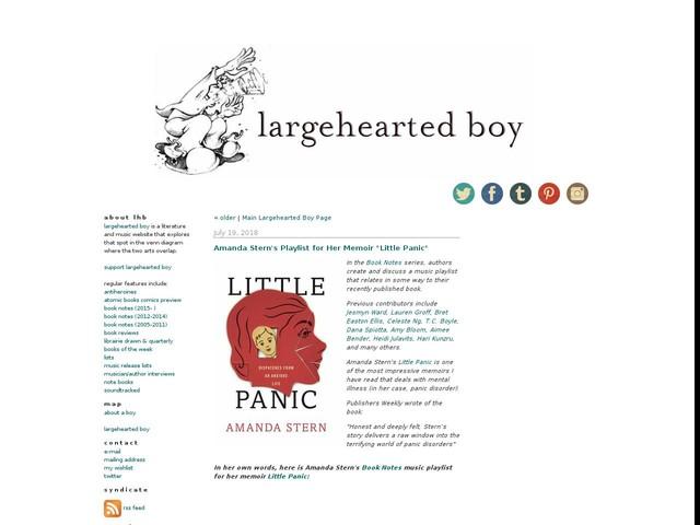 """Amanda Stern's Playlist for Her Memoir """"Little Panic"""""""