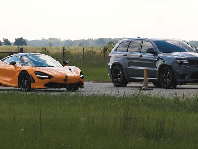 1,200 HP Jeep Grand Cherokee Trackhawk Vs. Stock McLaren 720S, Has The Macca Met Its Match?