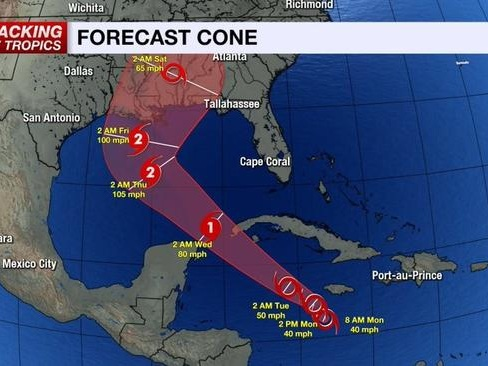 Tropical Storm Delta Forms As Gulf Coast On Watch For Possible Late Week Landfall