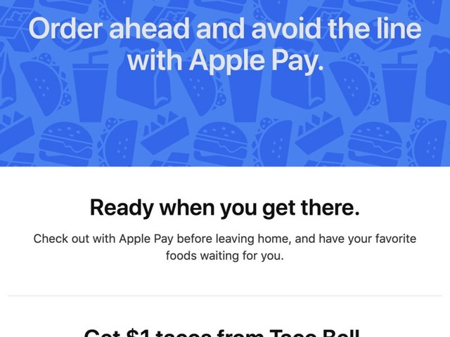 New U.S. Apple Pay Promo Offers $1 Tacos From Taco Bell