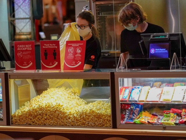 As movie theaters reopen nationwide, some employees are reluctant to return