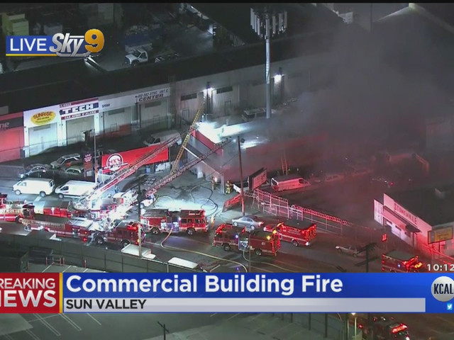 Firew Crews Work To Put Out Structure Fire In Sun Valley