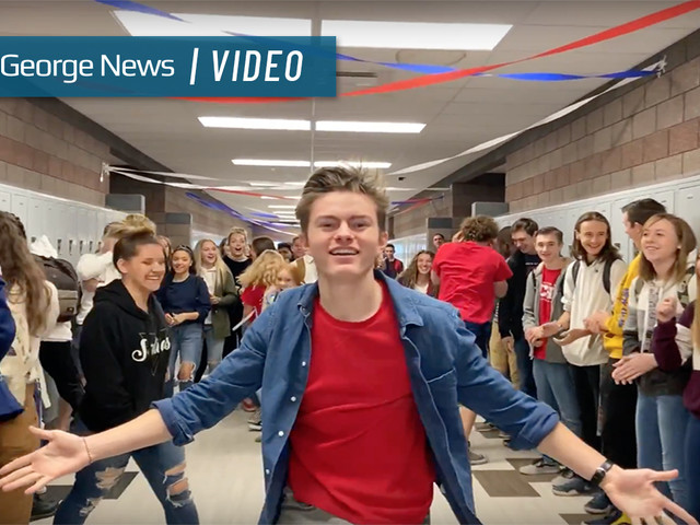 First class of students at Crimson Cliffs High look to lip dub to launch school traditions and unity