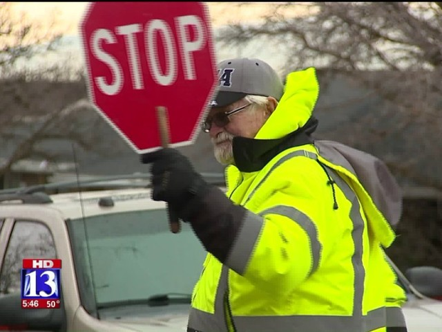 Utah crossing guard nominated for national award, brings smile to kid's faces daily