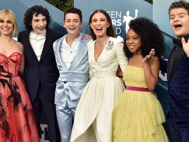 The Stranger Things Cast Reunited at the SAG Awards, and We're So Ready For Season 4
