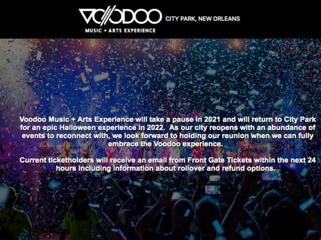 Voodoo Fest in New Orleans canceled for 2nd straight year