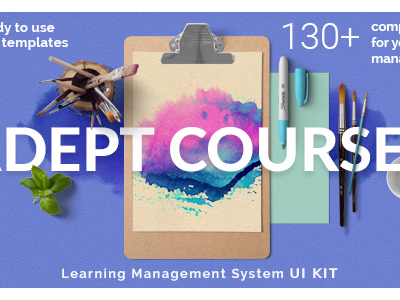 Adept Courses - Learning Management System PSD Kit (PSD Templates)