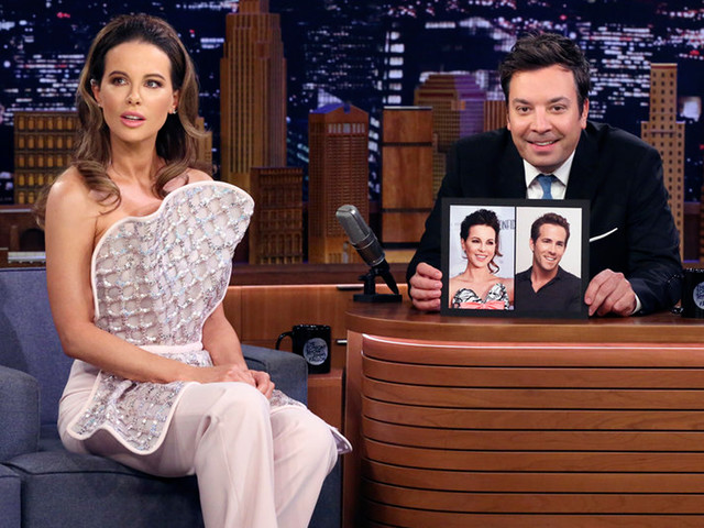 Kate Beckinsale Tells 'Fallon' She's Convinced She Looks Exactly Like Ryan Reynolds!