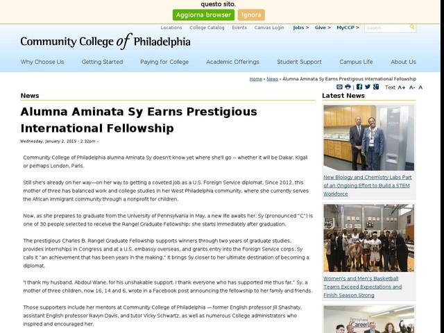Alumna Aminata Sy Earns Prestigious International Fellowship