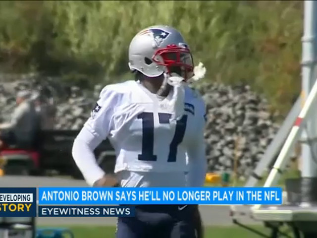 Former New England Patriots receiver Antonio Brown said he will no longer play in NFL