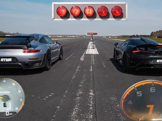 Watch The McLaren 765LT Go Head-to-Head With The Porsche GT2 RS In An Epic Battle