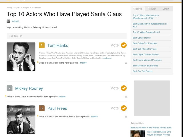 Top 10 Actors Who Have Played Santa Claus