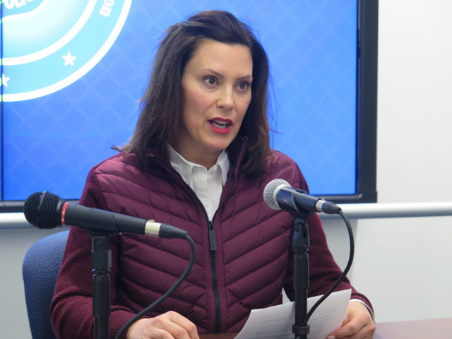 Michigan governor Gretchen Whitmer says medical vendors were told not to supply state