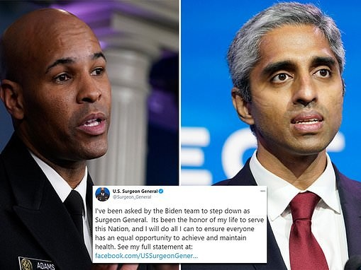 Surgeon General Jerome Adams says Biden administration has asked him to resign