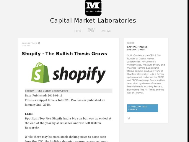 Shopify - The Bullish Thesis Grows
