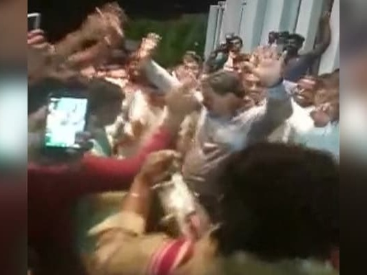 Fireworks Outside Bengaluru Hotel, BJP Lawmaker Dances After Trust Vote
