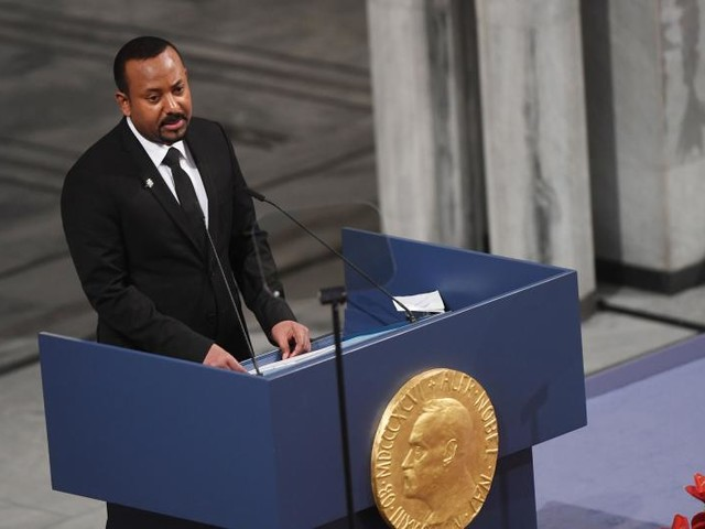 Ethiopia Prime Minister Abiy Ahmed Ali receives 2019 Nobel Peace Prize in Norway