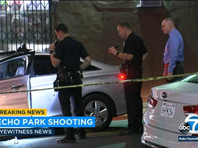 Echo Park shooting leaves three wounded, suspect outstanding