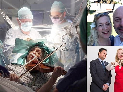 Violinist and brain surgeon reunite after he removed her tumour without destroying talent