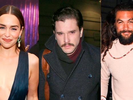 Emilia Clarke Reunites With Her 'GoT' Loves Jason Momoa & Kit Harington For Her Bday — Cute Pic