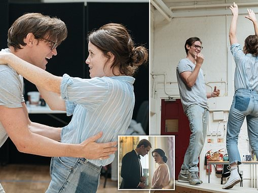 The Crown's Claire Foy reunites with co-star Matt Smith as they rehearse their new play Lungs