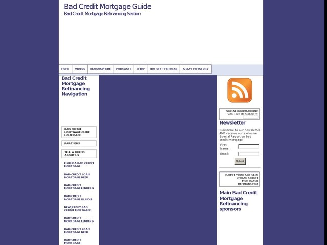 Taking a Quick Look at Bad Credit Refinancing