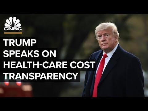 Watch: Trump speaks on new price disclosure rules for hospitals and insurers