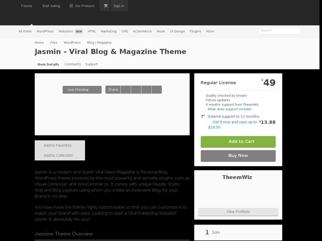 Jasmin - Viral Blog & Magazine Theme (Blog / Magazine)