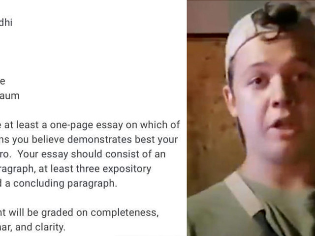 Texas teacher assigns students essay describing Kyle Rittenhouse as a 'hero'