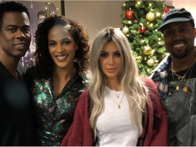 Kanye West Could Not Look Happier at Chris Rock's Comedy Show With Kim Kardashian