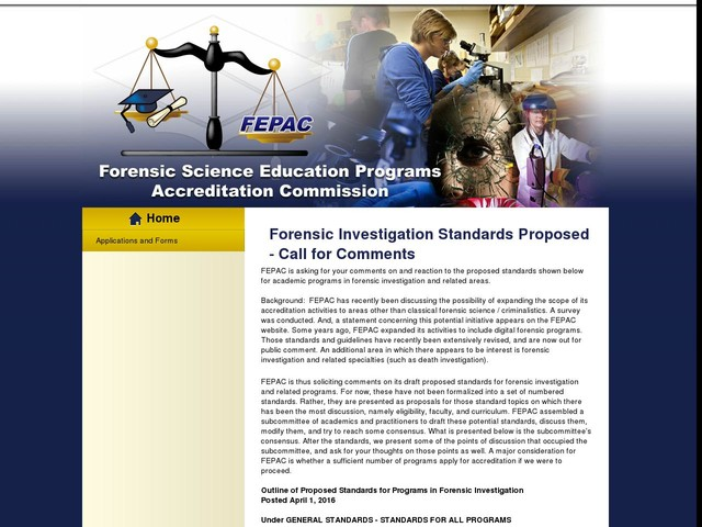 Forensic Investigation Standards Proposed - Call for Comments