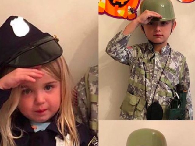 President Trump's grandchildren show off their military and law enforcement Halloween costumes
