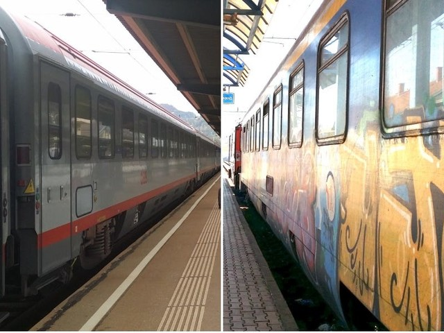 I took trains all the way from Istanbul to London, and eastern and western Europe felt like different worlds