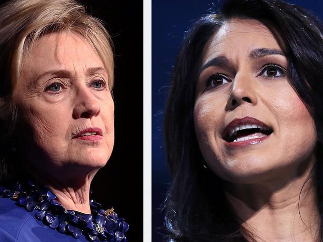 Gabbard Demands Clinton Enter 2020 Race, Calls Her 'Queen of Warmongers'