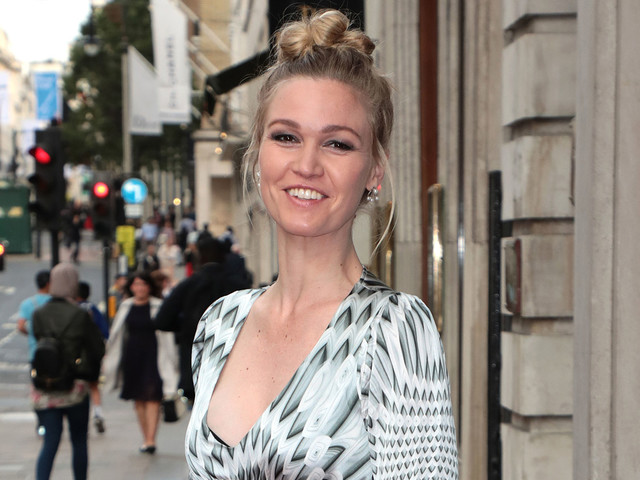 Pregnant Julia Stiles Cradles Baby Bump at TV Launch Event!